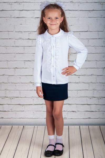 Шкільна блуза з мережевом