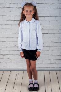 Фото Шкільна група Блуза шкільна з вишивкою