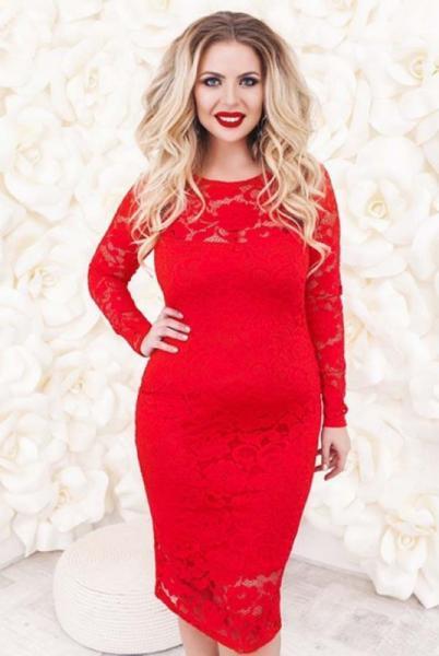 Фото Новинки Батальное нарядное платье