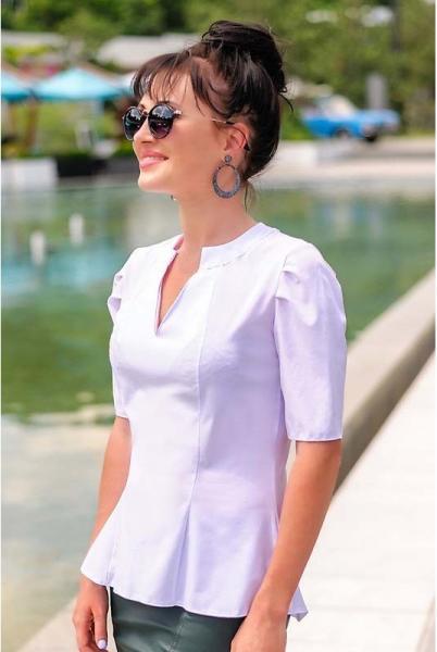 """Белая блузка с короткими рукавами """"Victoria Beckham"""""""