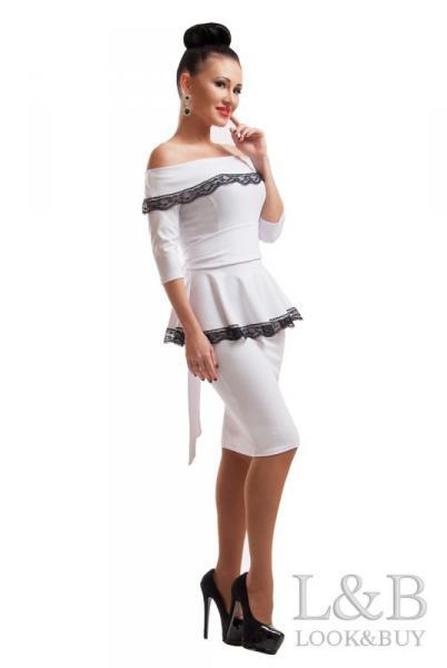 """Белое нарядное платье """"Френч"""""""