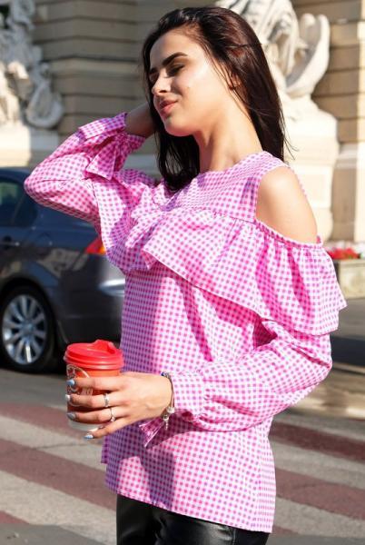 """Блузка с длинным рукавом """"Диамант"""", розовый"""