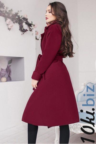 Бордовое демисезонное пальто Даниель - Пальто женское в магазине Одессы