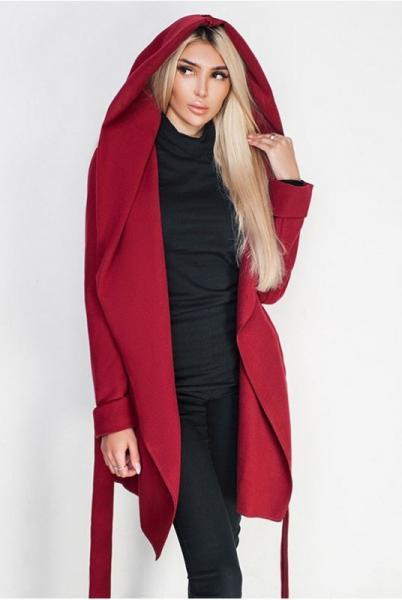 Бордовое женское пальто Лагерта