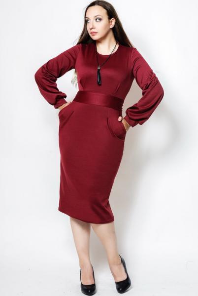 """Бордовое платье """"DIOR"""", большого размера"""