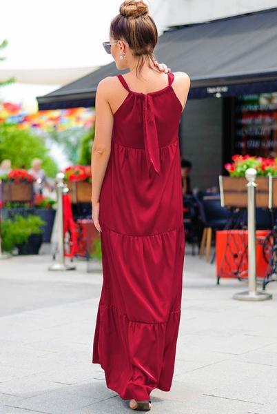 Бордовое платье макси  Кимберли
