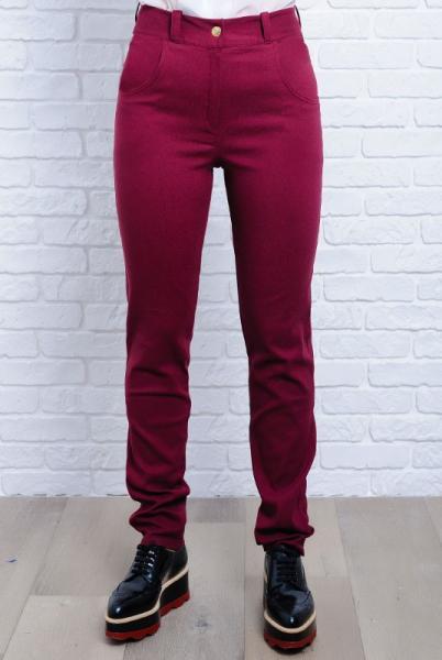 Бордовые женские джинсы Мексика