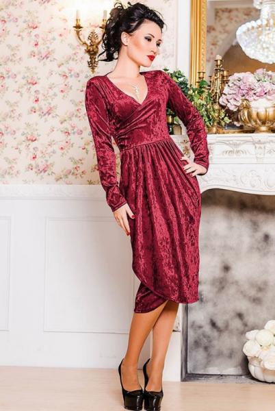 Фото Новинки Велюровое нарядное платье