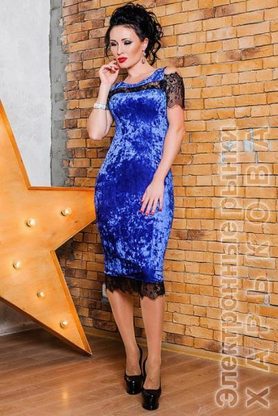 Велюровое платье Стелла 1708bfb6e533d