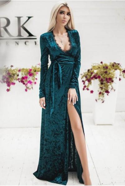 Вечернее платье Грация изумрудного