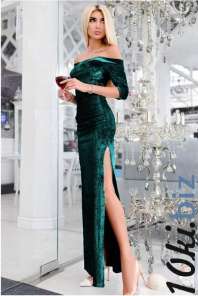 Вечернее платье макси  Кармела, изумруд - Платья больших размеров в магазине Одессы