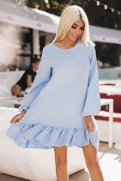 Голубое женское платье Розалия