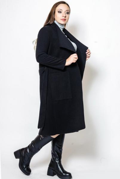 """Демисезонное пальто """"Барселона"""", черное"""