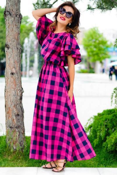 Длинное женское платье Шерлиз малиновый