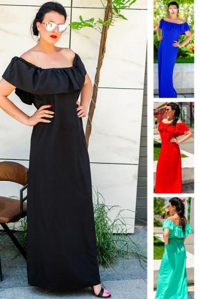 """Длинное летнее платье  """"Venera""""  до р60"""
