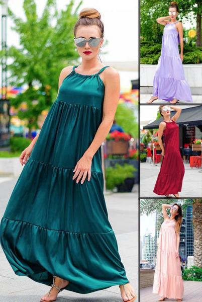 Длинное летнее платье Кимберли