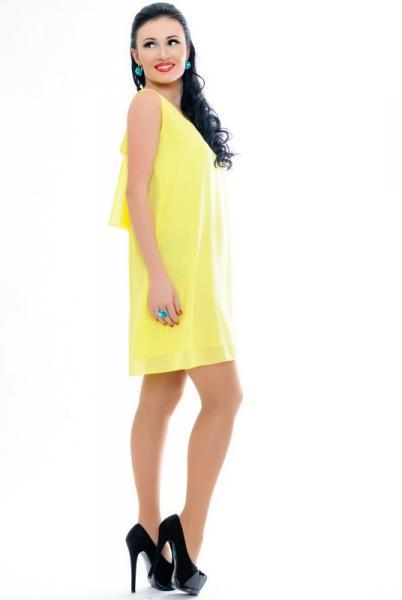 """Желтое женское платье """""""""""