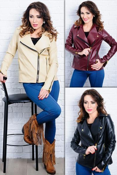 Женская куртка-косуха из экокожи Клер