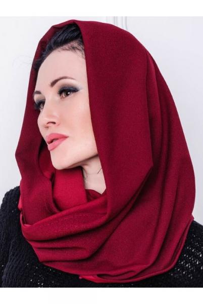 Женская шапка Люси бордовый