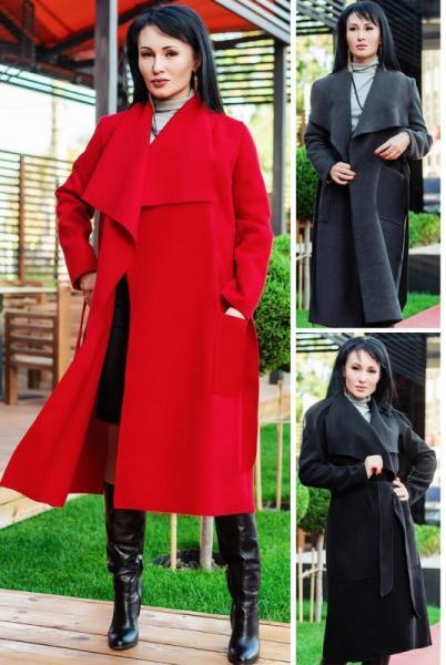 """Женское пальто """"Барселона"""" до р.60"""