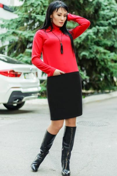 """Женское платье """"Шоппен"""" , красный"""
