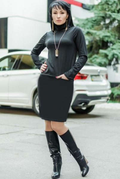 """Женское платье """"Шоппен"""" , черный"""