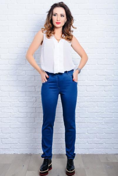 Классические женские джинсы Мексика синего цвета
