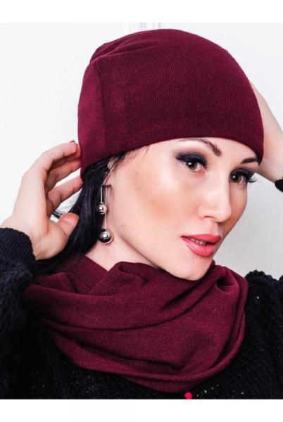 Комплект шапка и шарф-хомут Ангорка