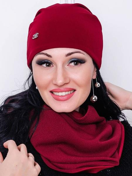 Комплект шапка и шарф-хомут Люси