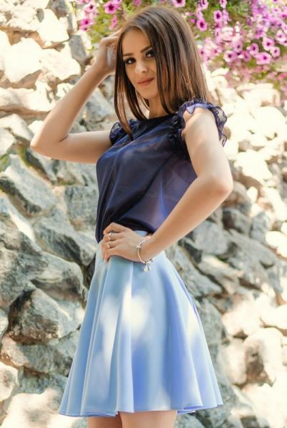 "Короткая юбка  ""Burberry"", голубой"