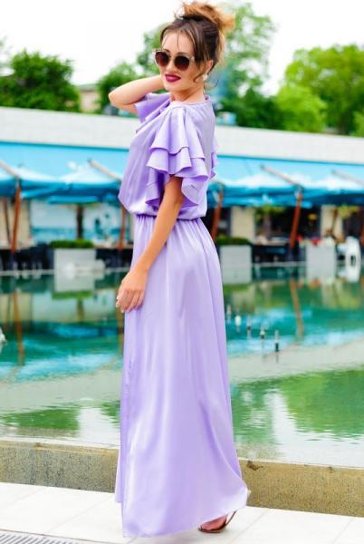 Красивое платье нежно лавандового цвета  Шерлиз