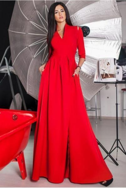 Красное вечернее платье Гарсия макси