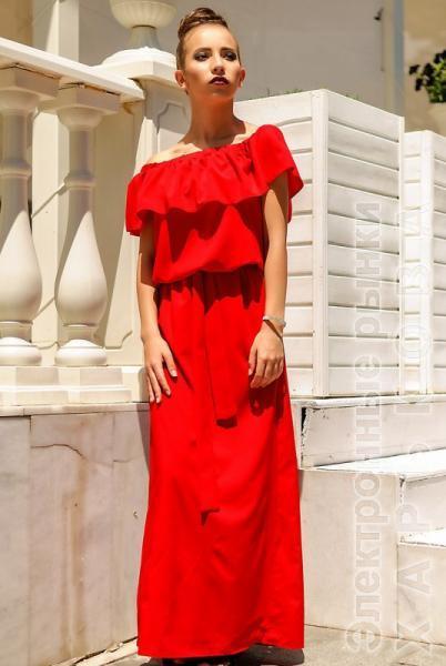 087cc65e311 Красное летнее платье