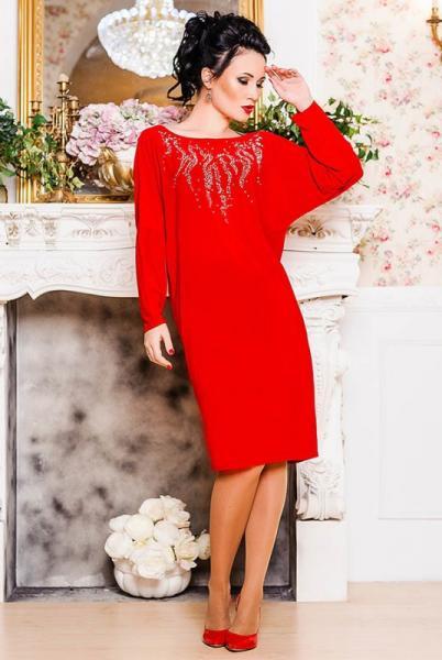 Красное нарядное платье Эмануэль