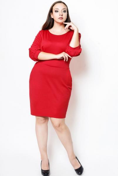 """Красное Платье """"CAVALLI"""" большого размера"""