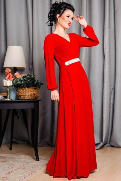 """Красное платье в пол """"Тейлор """""""