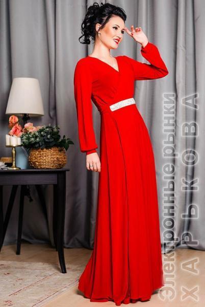 38a3ba18c3d Красное платье в пол