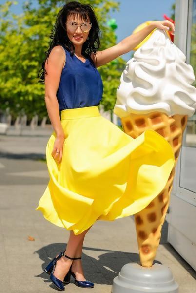 "Летняя юбка  ""Malaga"", желтая"