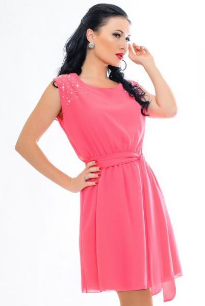 """Модное летнее платье  """"Peris"""", ярко розовый"""