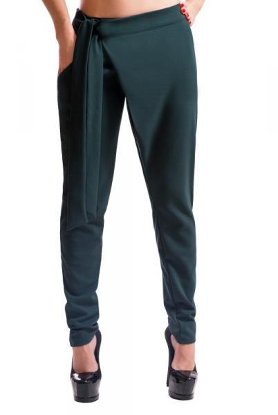 """Модные женские брюки """"Вашингтон"""", изумрудный"""