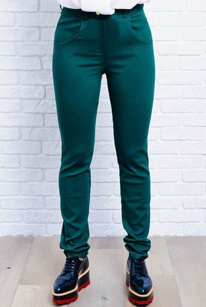 Модные женские джинсы Мексика зеленого цвета