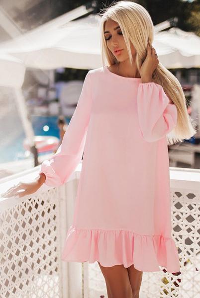 Нежно розовое платье Розалия