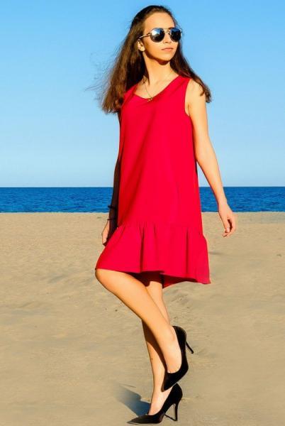 "Платье - сарафан ""Сицилия"", красное"