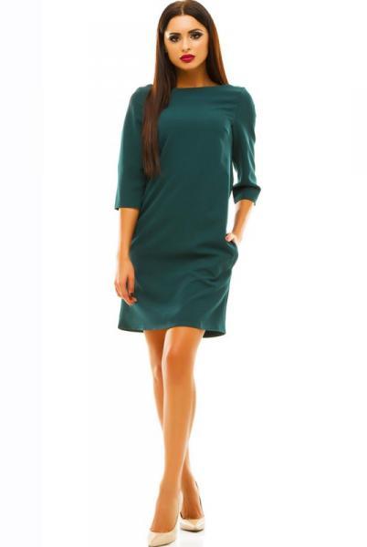 Платье изумрудного цвета  Шерри