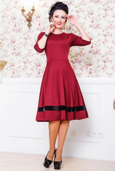 Платье Миу-Миу, бордовый