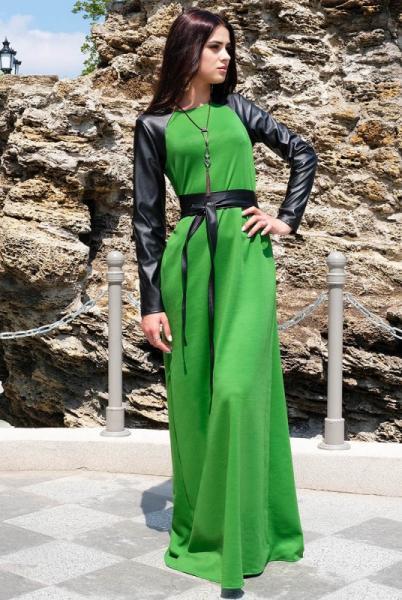 """Платье с длинным рукавом """"Габриэлла"""", Зелёный"""