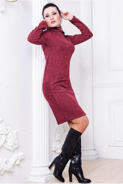 Платье Шопен Ангора бордовый