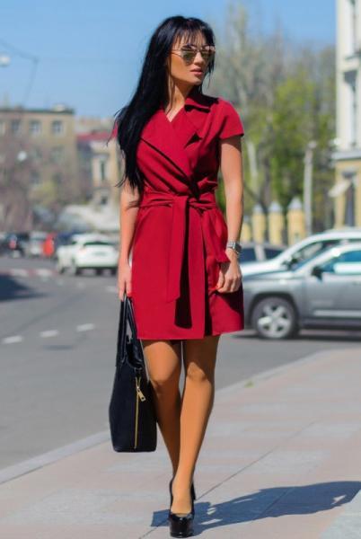 """Платье+кардиган """"Fortune"""" , бордовый"""