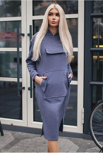 Спортивное платье  Женева натурального серого