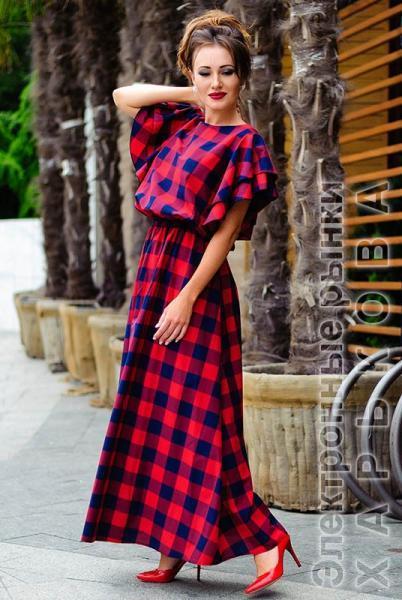 4dcf655ad63 ... Стильное платье макси Шерлиз красный - Платья в пол